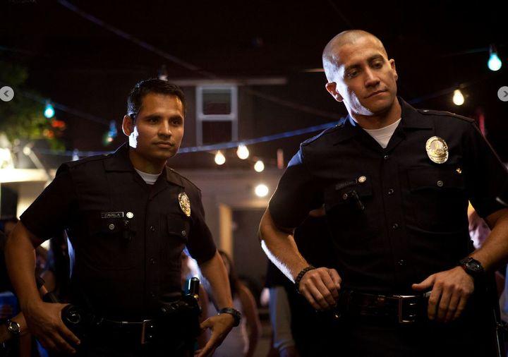 "Michael Pena et Jake Gyllenhaal, acteurs principaux de ""End of Watch"", film américain de David Ayer. (METROFILMS)"