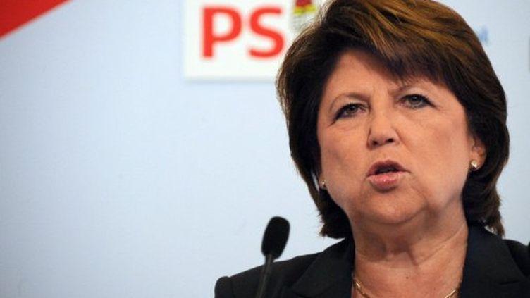 Mme Aubry a rendu publique sa lettre de réponse au député de Saône-et-Loire, mercredi en fin de soirée. (AFP - Johanna Leguerre)
