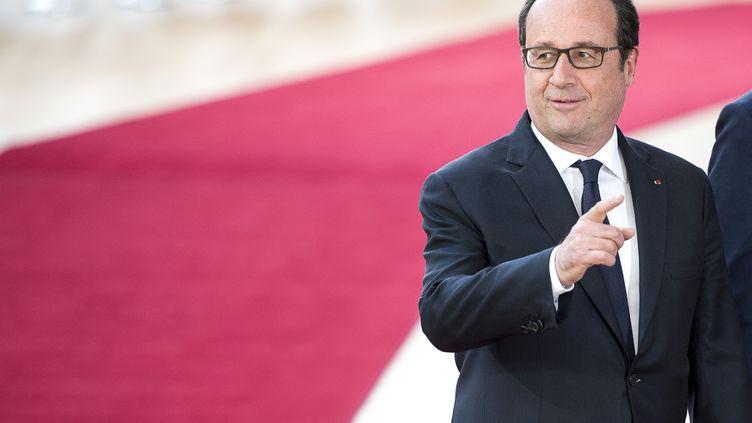 Le président de la République, François Hollande, à Bruxelles (Belgique), le 29 avril 2017. (WIKTOR DABKOWSKI / WIKTOR DABKOWSKI)