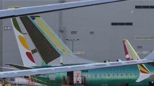 Un Boeing 737 MAX 8 pour la compagnie Ethiopian Airlines en construction à Renton (Washington, États-Unis), le 11 mars 2019. (STEPHEN BRASHEAR / GETTY IMAGES NORTH AMERICA)