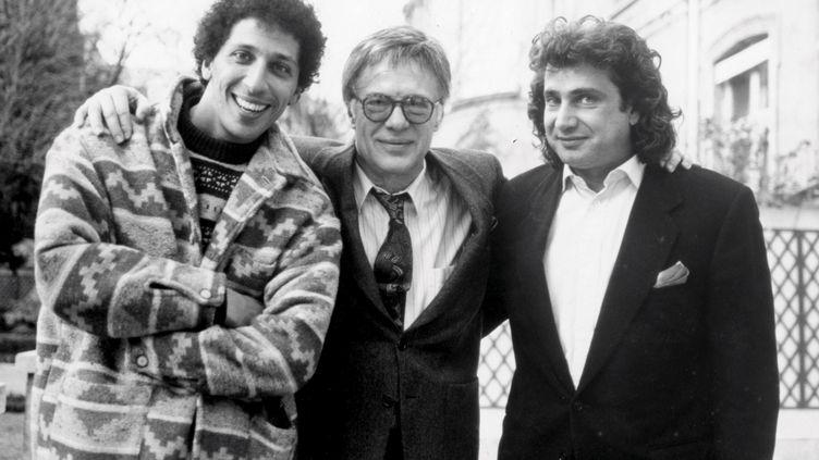 """Smaïn, Guy Bedos et Michel Boujenah avaient joué """"Coup de soleil"""" ensemble à l'Olympia, en 1991. (Le Parisien / MAXPPP)"""