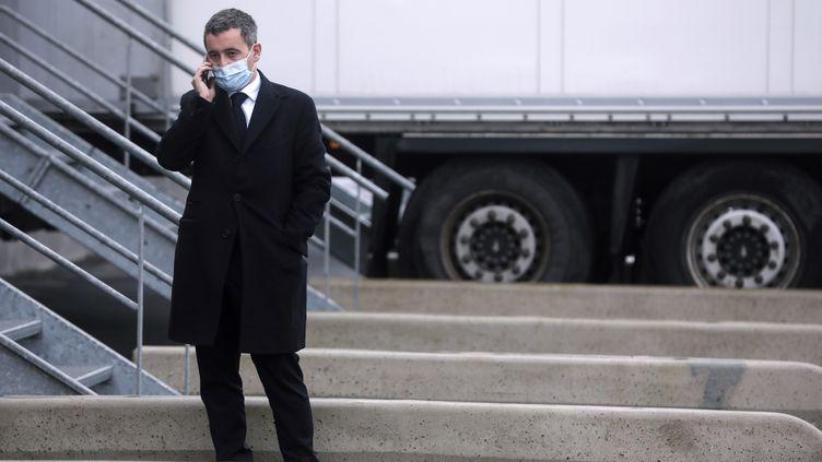 Le minsitre de l'Intérieur Gérald Darmanin, à Calais, le 3 décembre 2020. (CHRISTOPHE PETIT TESSON / POOL / AFP)