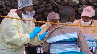 Vaccination contre le virus Ebola dans la ville de Goma en République Démocratique du Congo. Photo prise le 7 août 2019. (AUGUSTIN WAMENYA / AFP)