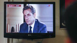 (Nicolas Sarkozy sur TF1 mercredi soir © Reuters-Robert Pratta)