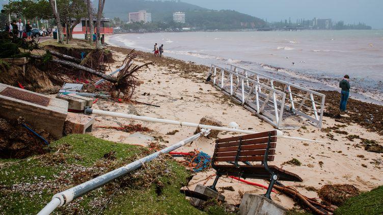Nouméa, 3 février 2021. La dépression tropicale Lucas est passée au large des côtes calédoniennes avant de s'éloigner vers le sud. (DELPHINE MAYEUR / HANS LUCAS / AFP)