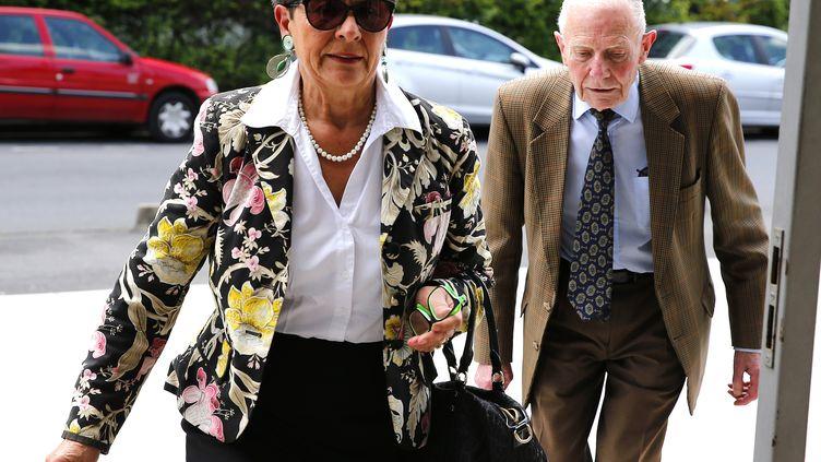 Viviane et Pierre Lambert, les parents de Vincent Lambert, à la cour d'appel de Reims (Marne), le 9 juin 2016. (FRANCOIS NASCIMBENI / AFP)