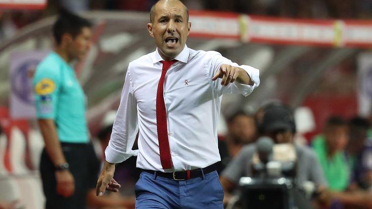 L'entraîneur de l'AS Monaco, Leonardo Jardim. (VALERY HACHE / AFP)