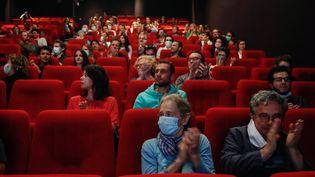 Une salle de cinéma parisienne le 21 juin 2020. (ABDULMONAM EASSA / AFP)