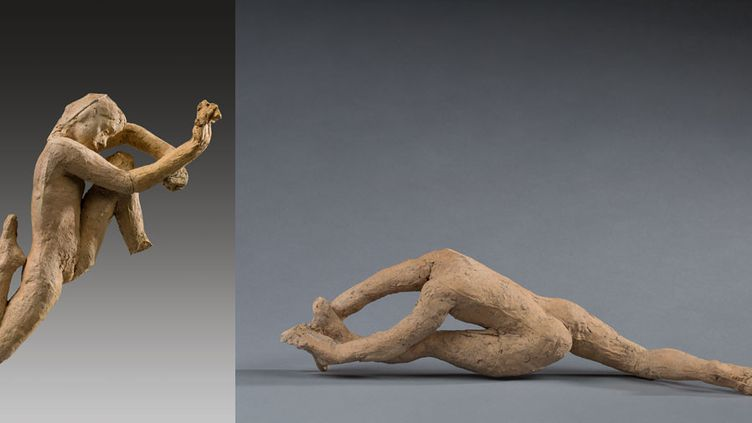 """Auguste Rodin, """"Mouvement de danse I avec Tête de la femme slave"""" et """"Mouvement de danse B+ (variante)""""  (agence photographique du musée Rodin, photographies J. Manoukian)"""