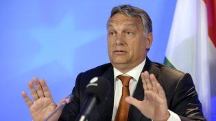 Le Premier ministre hongrois,Viktor Orban, à Bruxelles (Belgique), le 3 septembre 2015. (THIERRY CHARLIER / AFP)
