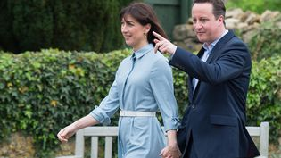 Le Premier ministre sortant, David Cameron, le 7 mai 2015. (LEON NEAL / AFP)
