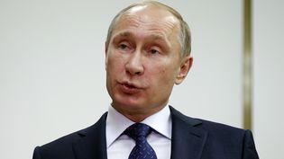 Vladimir Poutine à l'issue de sa rencontre avec François Hollande, samedi 6 décembre à Moscou (Russie). ( MAXIM ZMEYEV / REUTERS )