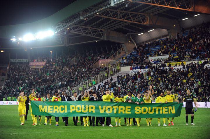Un temps menacé de relégation, les Nantais n'ont perdu que deux fois lors de leurs dix derniers matchs de la saison. (JEAN-SEBASTIEN EVRARD / AFP)