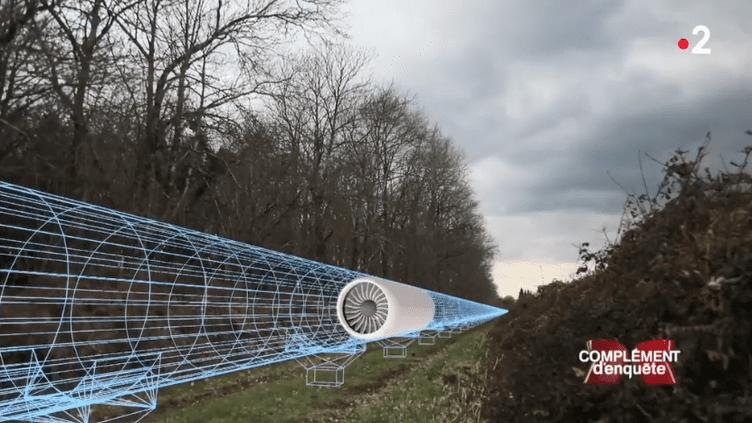 Le village de Droux (Haute-Vienne) a été choisi par une start-up canadienne pour accueillir un tube d'essai de l'Hyperloop. (FRANCE 2)