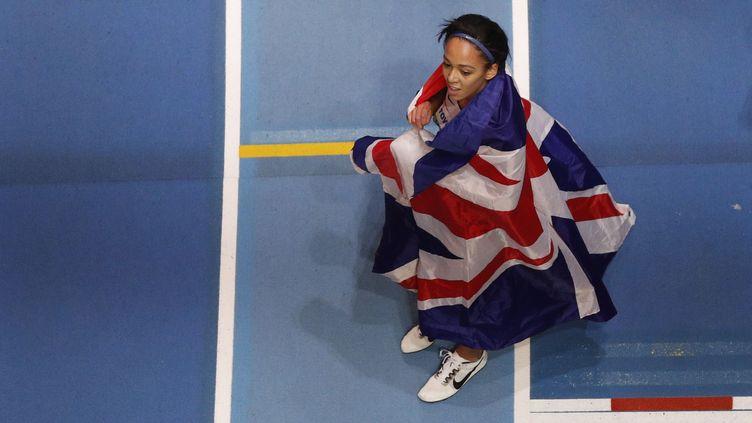 La Britannique Katarina Johnson-Thompson (ADRIAN DENNIS / AFP)