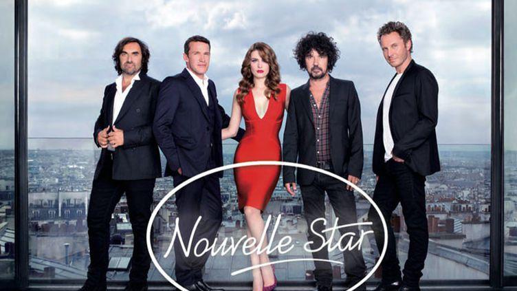 (Benjamin Castaldi et le nouveau jury de la troisième saison de la Nouvelle Star © D8)
