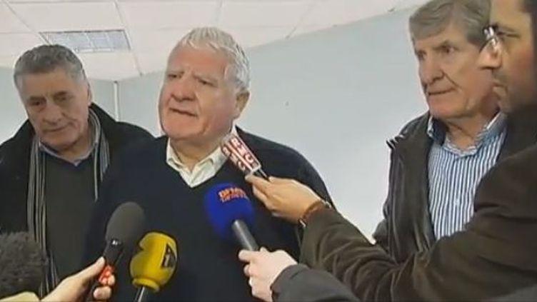 Les frères Spanghero, anciens rugbymen, le 14 février 2013. (FRANCETV INFO / FRANCE 2)