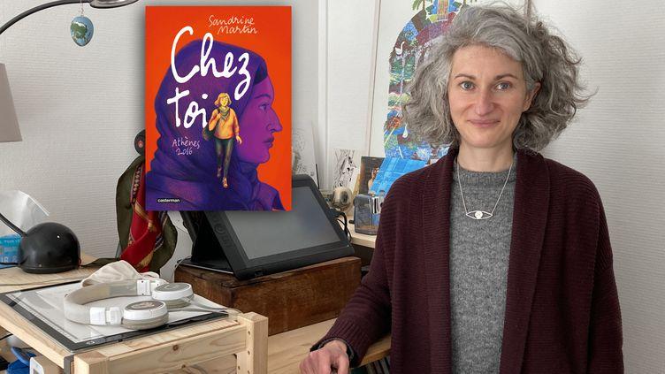 """Sandrine Martin, autrice de """"Chez toi. Athènes 2016"""", le 15 avril 2021 (Laurence Houot / FRANCEINFO CULTURE)"""