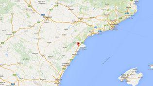 L'accident de car a eu lieu sur une route entre Valence et Barcelone, sur la commune deFreginals, en Catalogne. (GOOGLE MAPS)