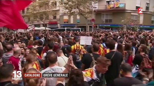 Catalogne : les indépendantistes manifestent leur colère contre l'État espagnol