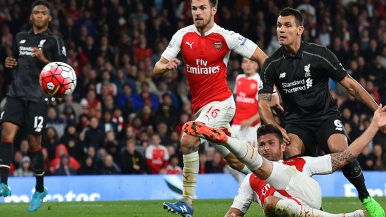 Olivier Giroud, lors d'Arsenal-Liverpool.
