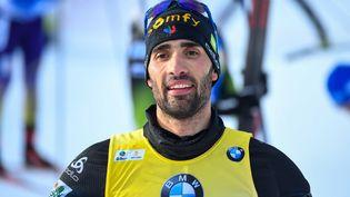 Martin Fourcade, le 14 mars 2020, lors de la Coupe du monde de biathlon à Kontiolahti, en Finlande. (KIMMO BRANDT / COMPIC)