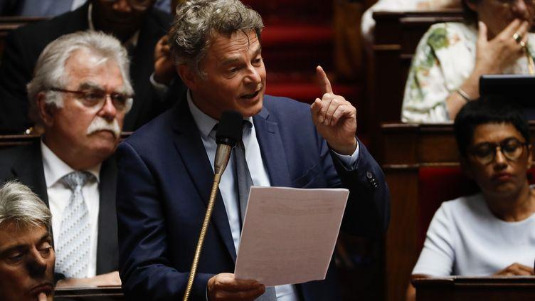 Fabien Roussel, à l'Assemblée nationale, le 26 juin 2019. (THOMAS SAMSON / AFP)