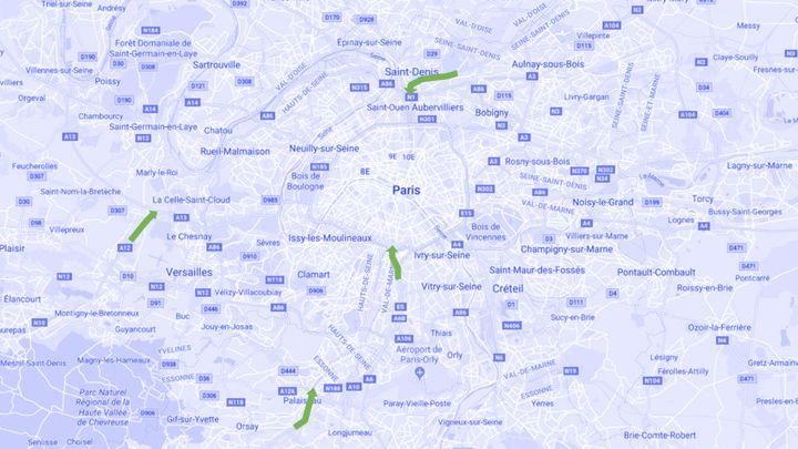 Le covoiturage sur les voies de bus et de taxi n'est autorisé que sur quatre tronçons autoroutiers en Ile-de-France. (FRANCEINFO)