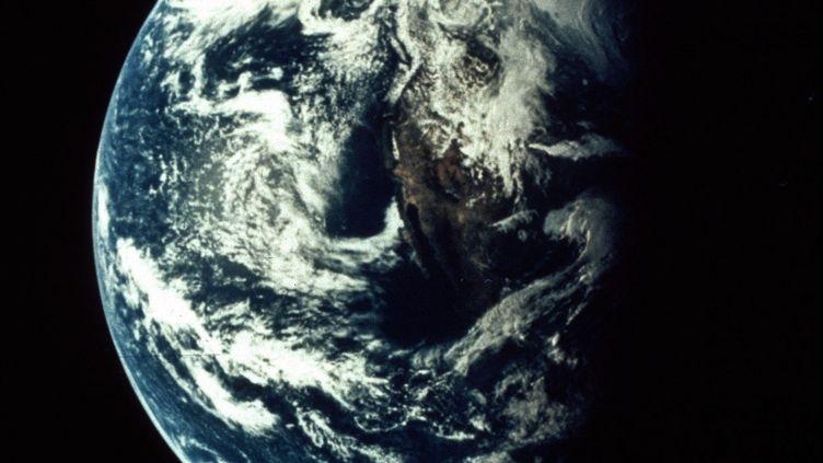 La Terre vue depuis Apollo 13, en 1970. (COLL-DITE / AFP)