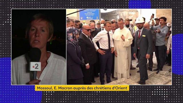 Irak : Emmanuel Macron achève son déplacement