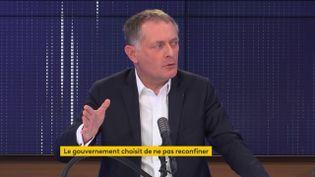 Philippe Juvin, sur franceinfo,jeudi 15 avril 2021. (FRANCEINFO / RADIOFRANCE)