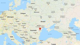 Izmaïl, en Ukraine, où le tanker russe a été intercepté. (GOOGLE MAPS)