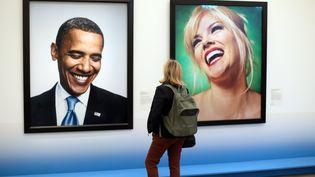 Les sourires de Barack Obama et d'Anna Nicole Smith vus par le photographe Andres Serrano  (PHOTOPQR/VOIX DU NORD)
