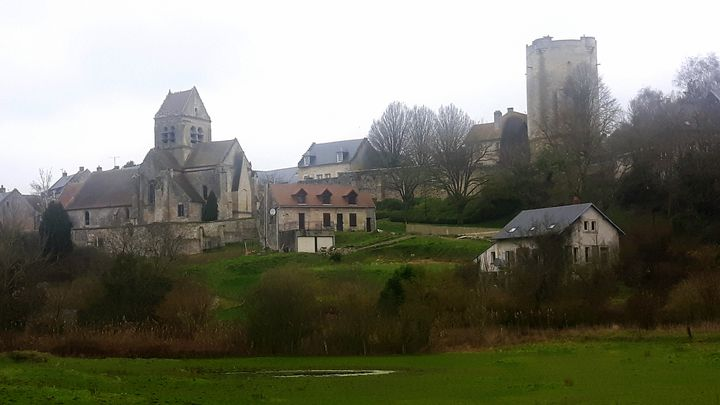 Le village de Droizy dans l'Aisne, en janvier 2020. (SEBASTIEN BAER / RADIO FRANCE)
