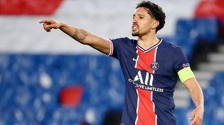 Marquinhos est l'un des piliers du PSG. (FRANCK FIFE / AFP)