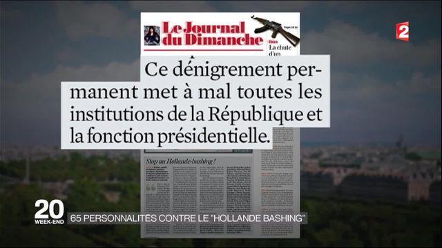 65 personnalités contre le Hollande-bashing