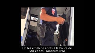 Extrait d'une vidéo tournée par le Collectif Roya Solidaire à la frontière entre la France et l'Italie. (DR)