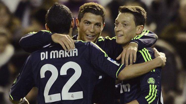 Cristiano Ronaldo s'est offert un doublé sur la pelouse de Valence.  (PIERRE-PHILIPPE MARCOU / AFP)