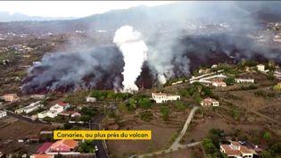 Espagne : l'éruption du volcan fait toujours des dégâts considérables dans les Canaries (FRANCEINFO)
