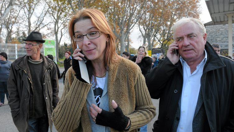 Violette Rodriguez, la mère de Chloé, le 16 novembre 2012 à Barjac (Gard). ( / MAXPPP)