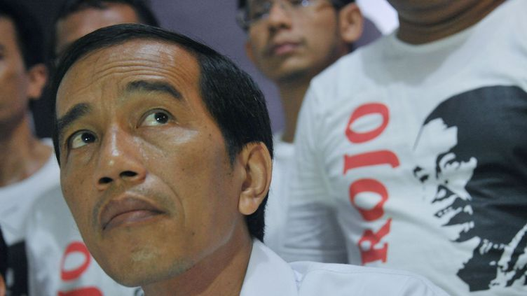 Joko Widodo lors d'une conférence de presse à Jakarta, le 11 avril 2014. (AFP PHOTO / BAY ISMOYO)