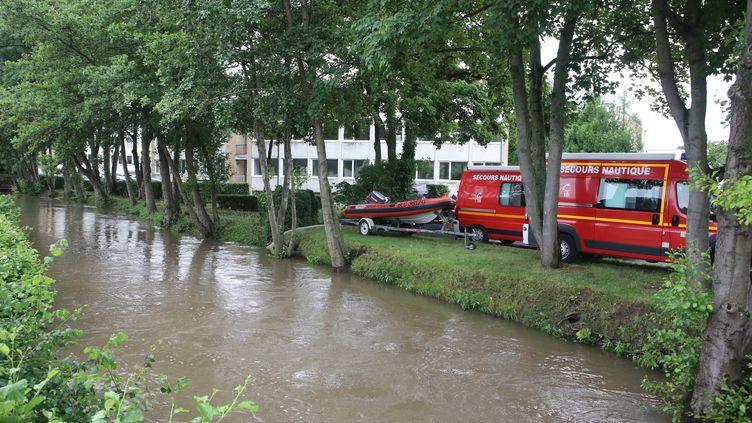 D'importants orages sont survenus à Beauvais (Oise), entre le 21 et le 22 juin 2021. (MAXPPP)