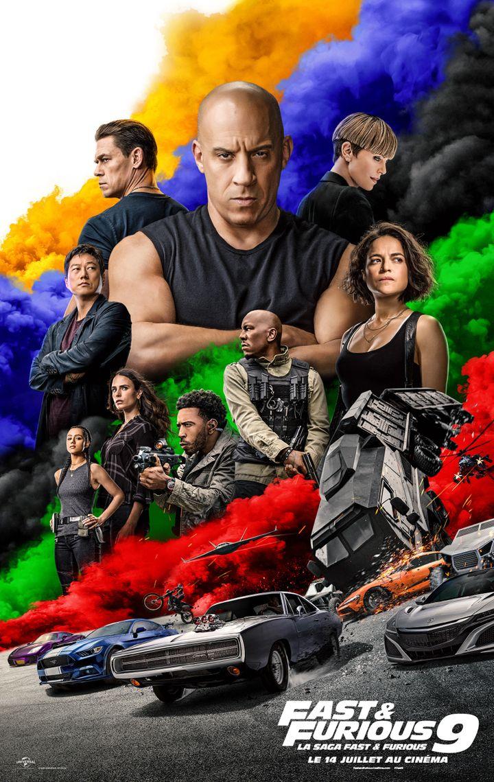 """L'affiche de """"Fast and Furious 9"""", sorti le 14 juillet dans les salles françaises (UNIVERSAL PICTURES - ONE RACE FI / COLLECTION CHRISTOPHEL VIA AFP)"""