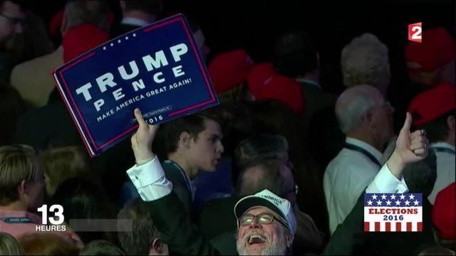Donald Trump président : ses supporters euphoriques