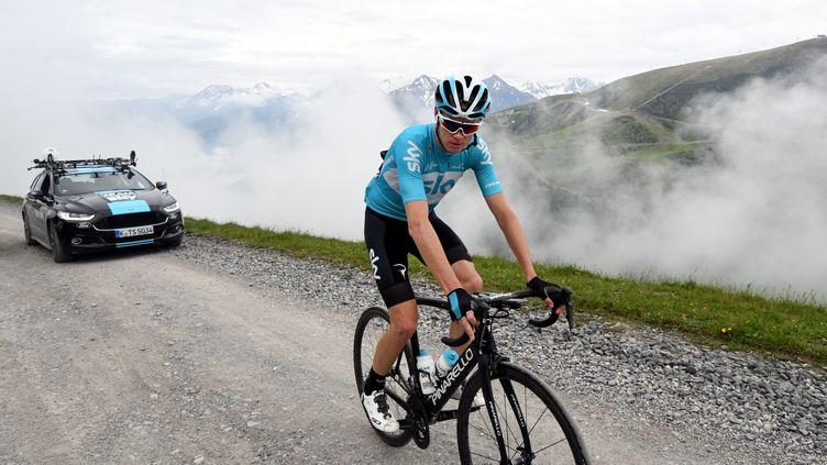 Le cycliste Christopher Froome, le 15 juin 2018 à Saint-Lary-Soulan (Hautes-Pyrénées). (AFP)