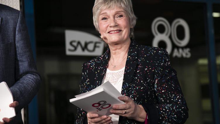 Simone Herault, la voix de la SNCF, lit des livres sur le site        e-livre.sncf.com. (MAXPPP)