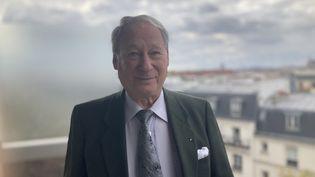 Alain Knoll, l'un des fils de Mireille Knoll tuée le23 mars 2018 à l'âge de 85 ans. (MARGAUX STIVE / FRANCEINFO)