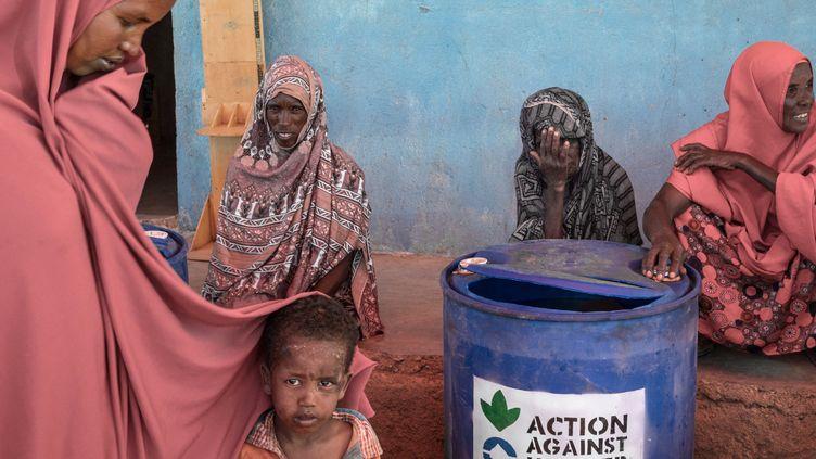 Des familles bénéficiant du Programme de réinstallation pour les personnes déplacées de Dabafayed au Sud-Est de l'Ethiopie, le 27 janvier 2021. (YONAS TADESSE / AFP)