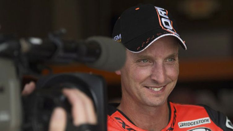 Le pilote MotoGP Colin Edwards