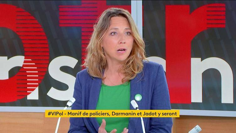 """La secrétaire nationale adjointe d'EELV Sandra Regol était l'invitée de """"Votre instant politique"""", le 18 mai 2021. (FRANCEINFO)"""